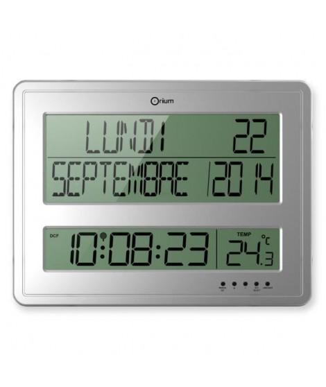 RC DIGITALE Horloge calendrier 43x32,5 cm noir