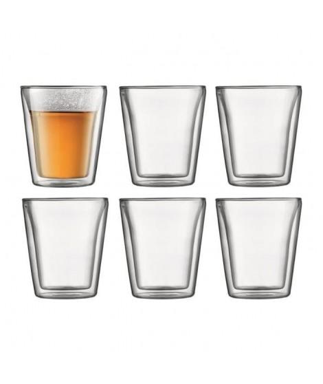 BODUM Set 6 verres double paroi CANTEEN 0.2 l Transparent