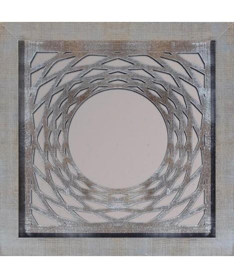 WOOD Miroir design 47x47 cm marron