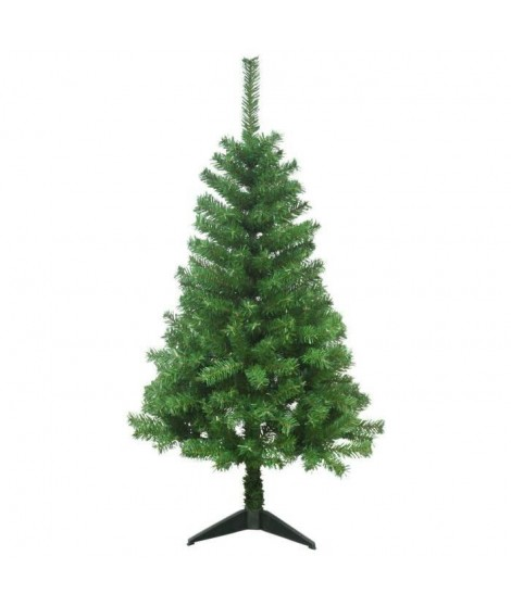 Sapin de Noël Canada 250 branches hauteur 120 cm vert