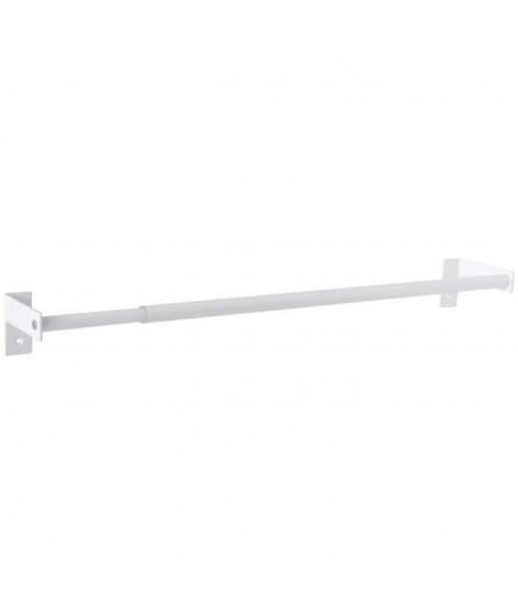 GELCO Porte-serviettes extensible Nissi 45 a 80 cm blanc
