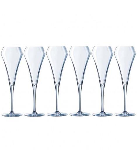 CHEF ET SOMMELIER Lot de 6 Flûtes a champagne Effervescent OPEN UP 20 cl