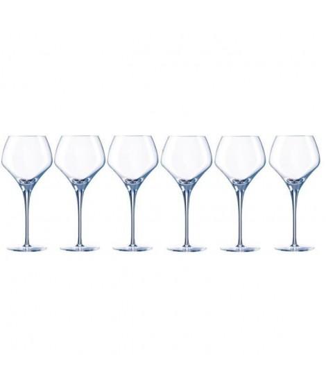 CHEF ET SOMMELIER Lot de 6 Verres a vin ROUND OPEN UP 37 cl