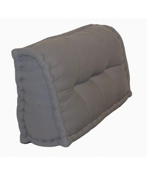 Dossier Cale-Reins 100% coton 60x22/11xH.35 cm gris