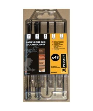 PEUGEOT Kit de 48 lames pour scie a chantourner 12-18TPI 127 mm