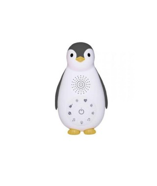 ZAZU Zoe le pingouin- Boite a musique Bluetooth avec veilleuse - Gris
