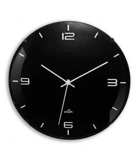 ELEGANTA Horloge silencieuse Ø29 cm noir et blanc