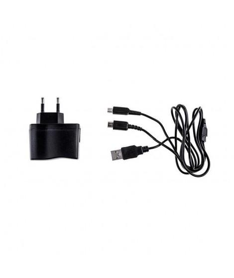 UNDER CONTROL Multi Chargeur secteur + Cable USB DS - 1M - Noir