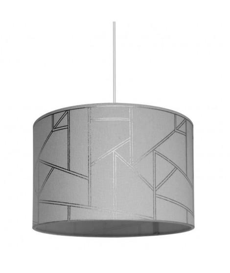 Lustre - suspension Harold motif irisé diametre 30 cm hauteur 20 cm E27 40W gris
