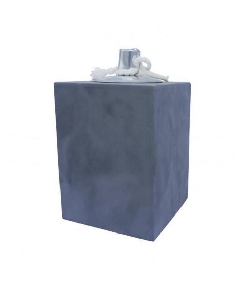 HOMEA Lampe a huile déco esprit béton H20 cm gris