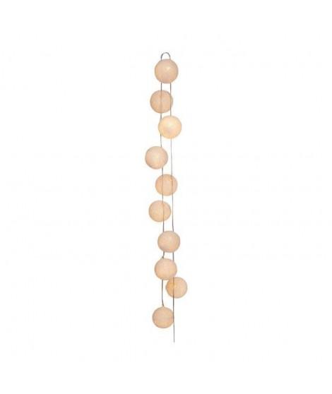 SEMA Guirlande Electrique Boules - Tissu Blanc - x10