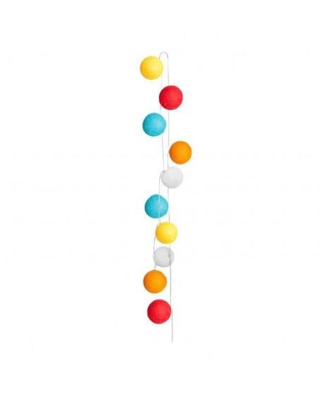 SEMA Guirlande Electrique Boules - Tissu - Multicolore - x10