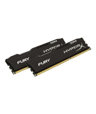 HYPERX Mémoire PC FURY Black- 16Go(2x8Go) - DDR4 - 2666MHz - CL16 - DIMM