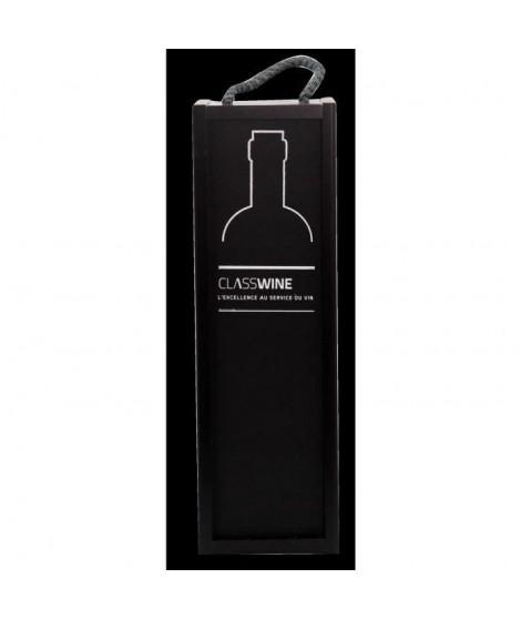 Caisse bois noire - Pour 1 bouteille format Bordeaux