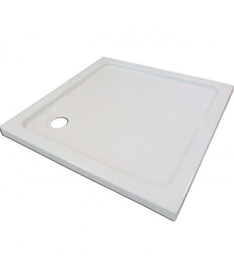 AQUA+ Receveur acrylique Yqua L80xP80xH5 cm blanc