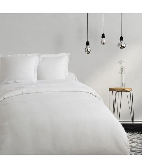 COTE DECO Housse de couette Coton 240x260cm - Blanc