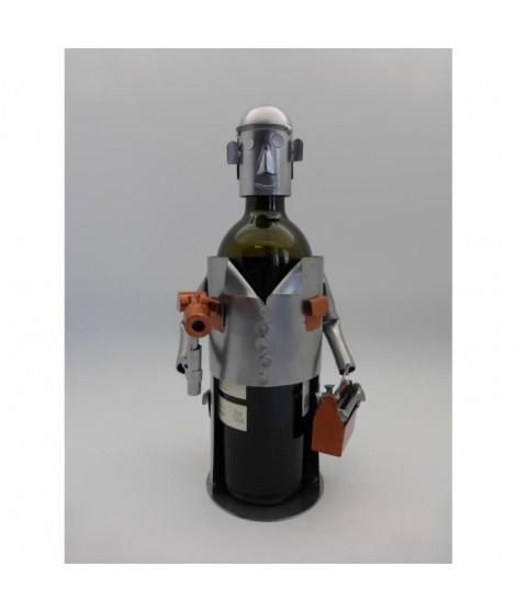Support bouteille Décoration Bricoleur 16x11x22cm - Métal