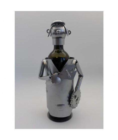 Support bouteille Décoration Mécanicien 14x13x21cm - Métal
