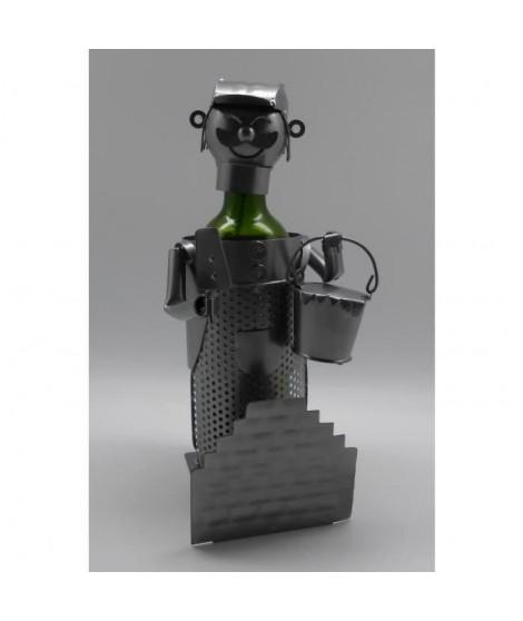 Porte bouteille Décoration Maçon 16x16x22cm - Métal