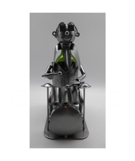 Porte bouteille Décoration Batteur 19x14x20cm - Métal