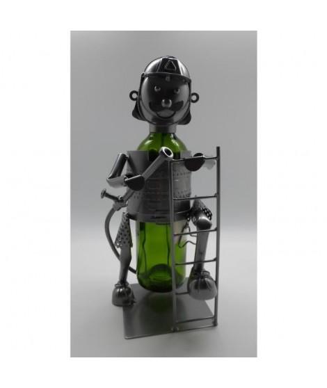 Porte bouteille Décoration Pompier 18x14x23cm - Métal