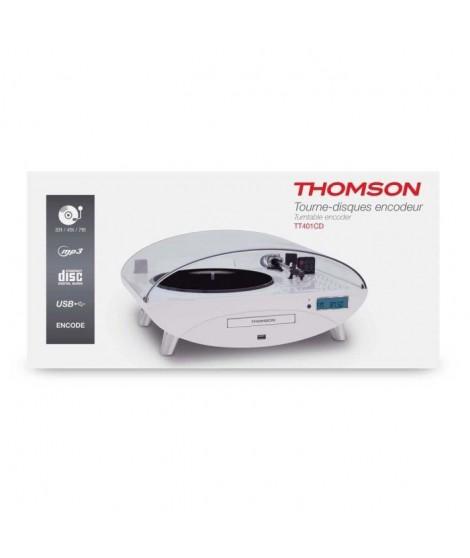 THOMSON TT401CD Tourne disque - Port Usb 2.0 - 8 W - Blanc