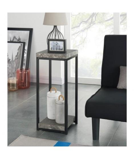 IMPAKT Selette-console 30 cm - Noir et effet béton
