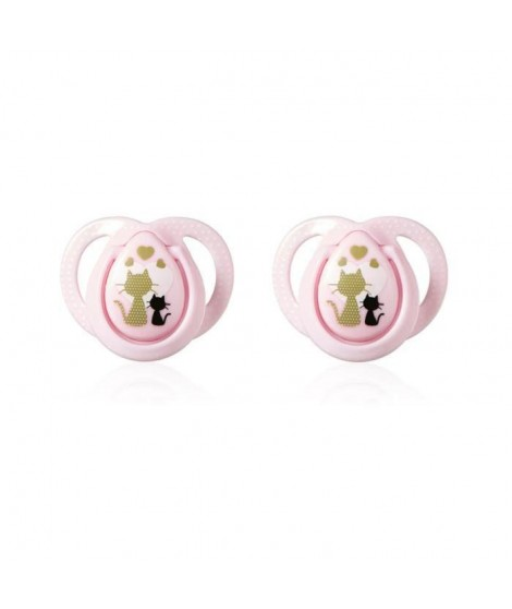 TOMMEE TIPPEE 2 Sucettes Moda Close To Nature 0-6m - Fille