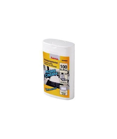 HAMA 49648 Lingettes de nettoyage - 100 pieces -  HUM / PLASMA / LCD
