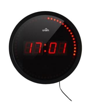 LIBERTY Horloge a LED Ø30 cm noir et rouge