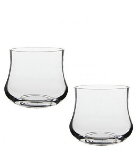 MICA DECORATIONS Lot de 2 Pots Kres - En Verre - Transparent