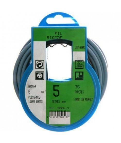 PROFIPLAST Couronne de câble 5 m HO7V-R 6 mm2 Bleu