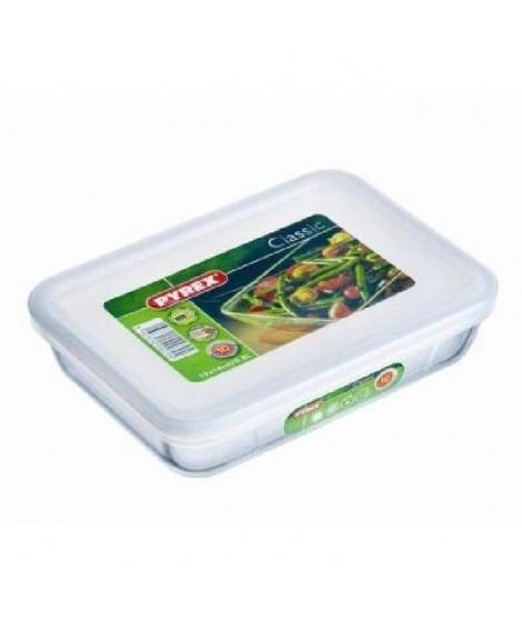PYREX Plat rectangulaire 0,8 L + Couvercle en plastique COOK&FREEZE