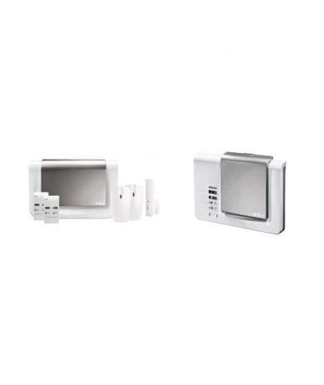 DIAGRAL Pack alarme maison DIAG06BSF sans fil GSM avec transmetteur téléphonique intégré et clavier lecteur de badge