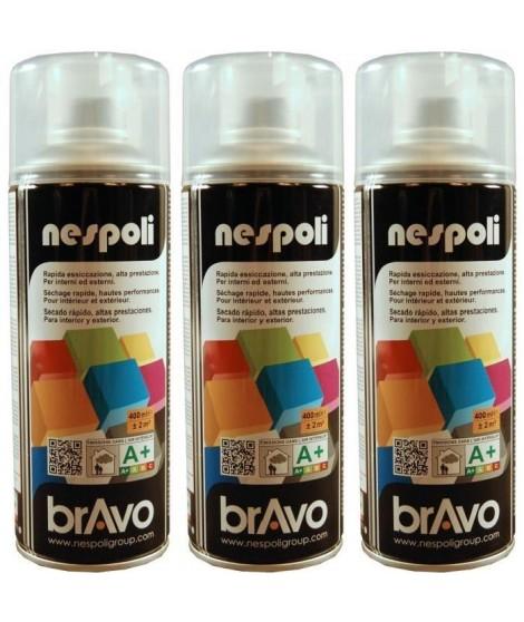 NESPOLI Lot de 3 aérosols vernis incolore mat