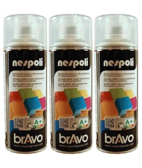 NESPOLI Lot de 3 aérosols vernis incolore brillant