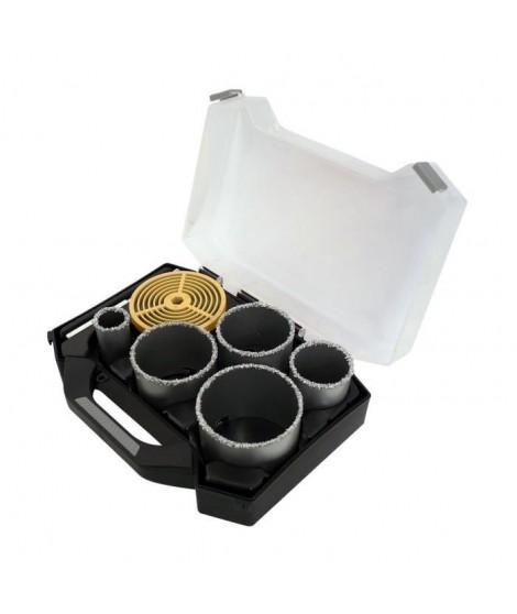 SMARTOOL Mallette 7 pieces trépans ø 33-83 mm pour carbure, brique et faience