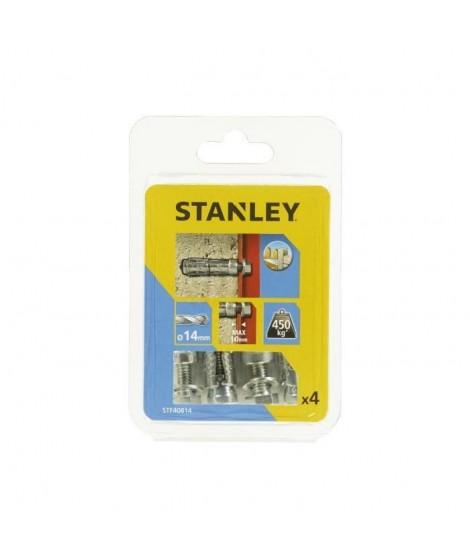 STANLEY Kit de 4 boulons a expansion avec vis M8 STF40814-XJ