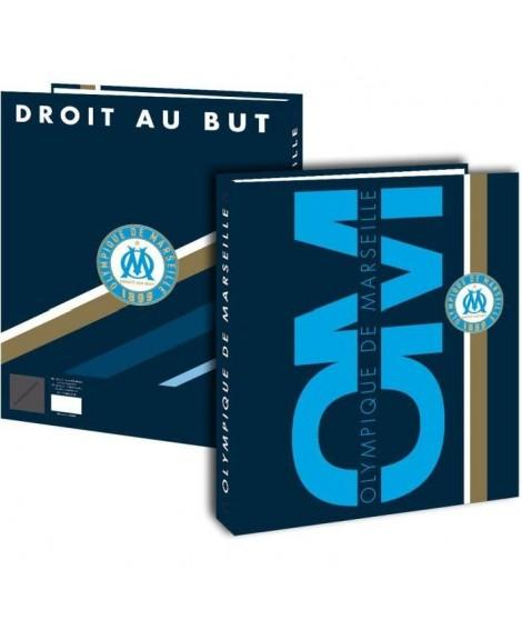 OLYMPIQUE DE MARSEILLE Classeur Carton - Adolescent - 24x32cm - Bleu - Enfant Garcon