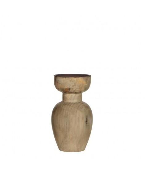 MICA DECORATIONS Bougeoir Marron  H18,5 x d10,5cm