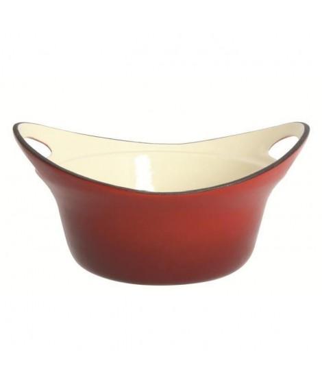 MENASTYL Caquelon Avoriaz 23 cm Fonte évasé rouge
