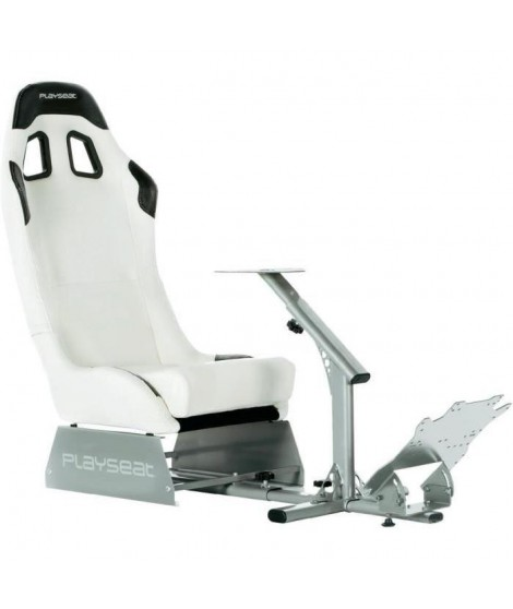 PLAYSEAT Siege simulation automobile EVOLUTION - Simili-cuir - Blanc