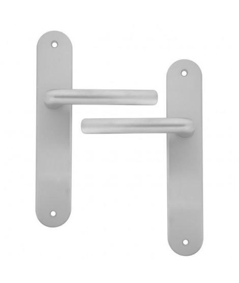 ALPERTEC Ensemble de poignées de porte Mercury - En aluminium argent