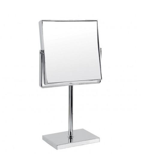 GERSON Miroir sur pied grossissant - Chromé - 15,5x15,5 cm - H31,5 cm