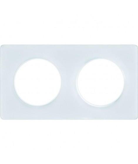 SCHNEIDER ELECTRIC Plaque de finition 2 postes Odace Touch blanc translucide liseré blanc