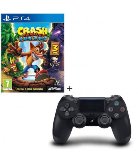 Crash Bandicoot N. Sane Trilogy + Manette DS4 Noire