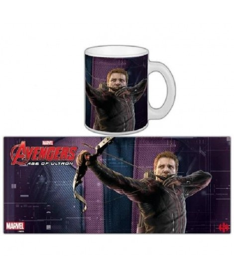 Mug Marvel Hawkeye L'ere d'Ultron Série 1 Blanc