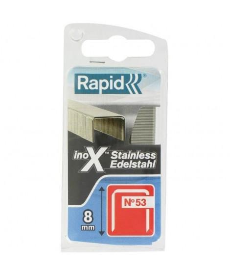 RAPID Agrafes acier inoxydable - Fil fin - N°53/08 mm