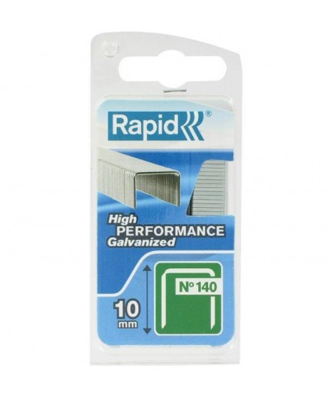 RAPID Agrafes galvanisées - Fil plat - N°140/10 mm