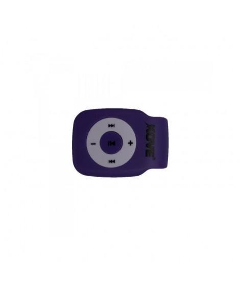 KOVE K117 Lecteur MP3 avec emplacement pour Micro SD - Violet